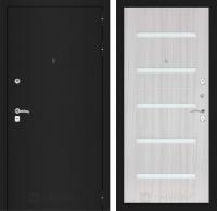Входная дверь CLASSIC шагрень черная 01 - Сандал белый