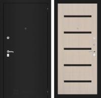 Входная дверь CLASSIC шагрень черная 01 - Беленый дуб