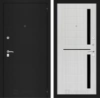 Входная дверь Classic шагрень черная 02 - Сандал белый