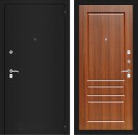 Входная дверь CLASSIC шагрень черная 03 - Орех бренди