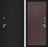Входная дверь CLASSIC шагрень черная 03 - Орех премиум
