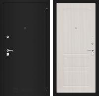 Входная дверь CLASSIC шагрень черная 03 - Сандал белый