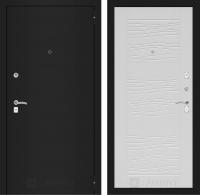 Входная дверь CLASSIC шагрень черная 06 - Белое дерево