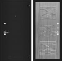 Входная дверь CLASSIC шагрень черная 06 - Сандал серый