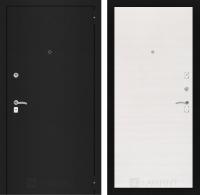 Входная дверь CLASSIC шагрень черная 07 - Перламутр горизонтальный