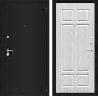 Входная дверь CLASSIC шагрень черная 08 - Кристалл вуд