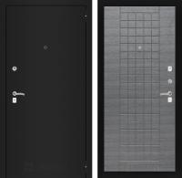 Входная дверь CLASSIC шагрень черная 09 - Лен сильвер грей