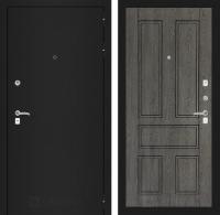 Входная дверь CLASSIC шагрень черная 10 - Дуб филадельфия графит