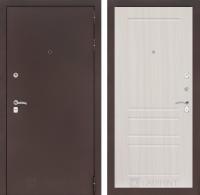 Входная дверь CLASSIC антик медный 03 - Сандал белый