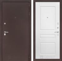 Входная дверь CLASSIC антик медный 03 - Белый софт