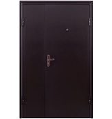 Двухстворчатая Тамбурная Дверь «Тамбур - 1 метал/метал»
