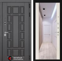 Входная дверь NEW YORK с Зеркалом Максимум - Сандал белый