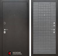Входная дверь Сильвер 09 - Лен сильвер грей