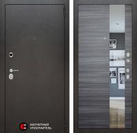 Входная дверь SILVER с Зеркалом - Сандал серый горизонтальный