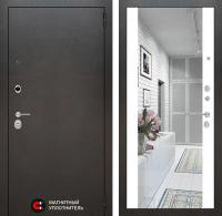 Входная дверь SILVER с Зеркалом Максимум - Белый софт