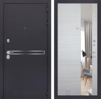 Входная дверь LINE с Зеркалом - Акация светлая горизонтальная
