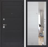 Входная дверь LOFT с Зеркалом - Акация светлая горизонтальная