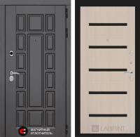 Входная дверь Нью-Йорк 01 - Беленый дуб, стекло черное