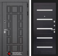 Входная дверь Нью-Йорк 01 - Венге, стекло белое