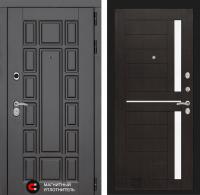 Входная дверь Нью-Йорк 02 - Венге, стекло белое