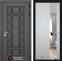 Входная дверь Нью-Йорк с Зеркалом - Акация светлая горизонтальная
