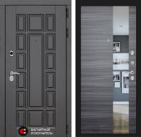 Входная дверь Нью-Йорк с Зеркалом - Сандал серый горизонтальный