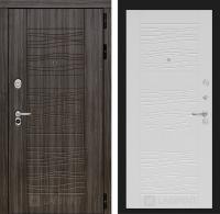Входная дверь SCANDI Дарк грей 06 - Белое дерево